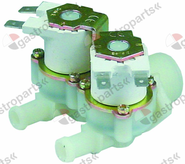374.021, solenoid valve double straight 230V inlet 3/4