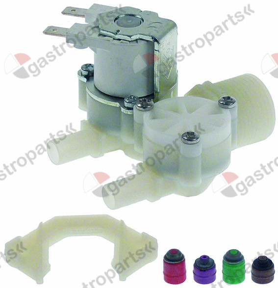 374.032, solenoid valve double straight 230V inlet 3/4