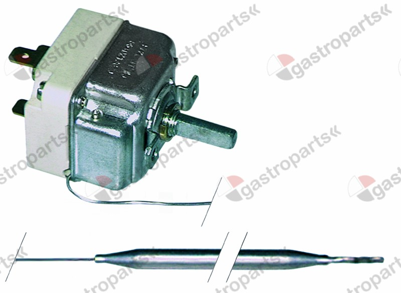375.003, Replaced by 375004 / thermostat t.max. 200°C temperature range 60-200°C1-pole 1CO 16A probe ø 6mm probe L 74mm