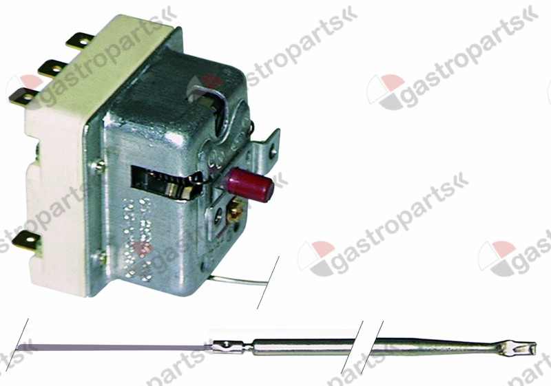 375.017, Replaced by 375392 / safety thermostat switch-off temp. 360°C 3-pole20A probe ø 4mm probe L 122mm
