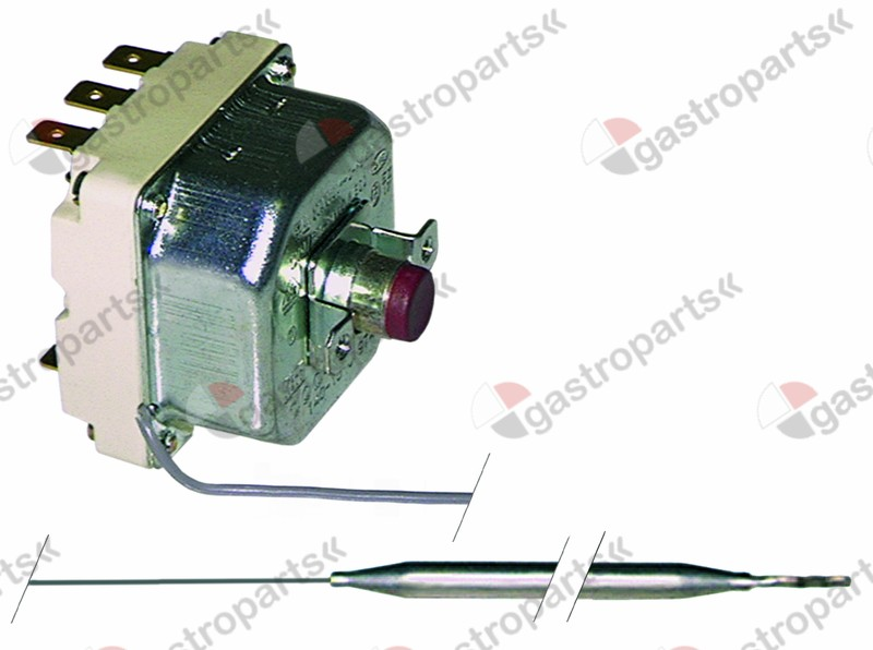 375.047, safety thermostat switch-off temp. 320°C 3-pole 20A probe ø 6mm probe L 177mm