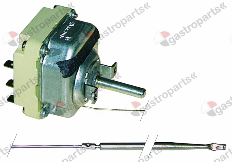 375.056, thermostat t.max. 300°C temperature range 50-300°C 3-pole 3NO 16A probe ø 4mm probe L 292mm