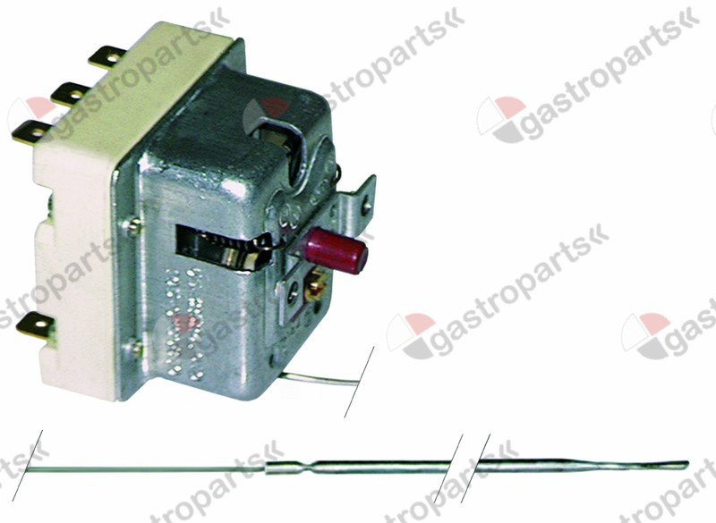 375.059, safety thermostat switch-off temp. 255°C 3-pole 20A probe ø 3,1mm probe L 307mm