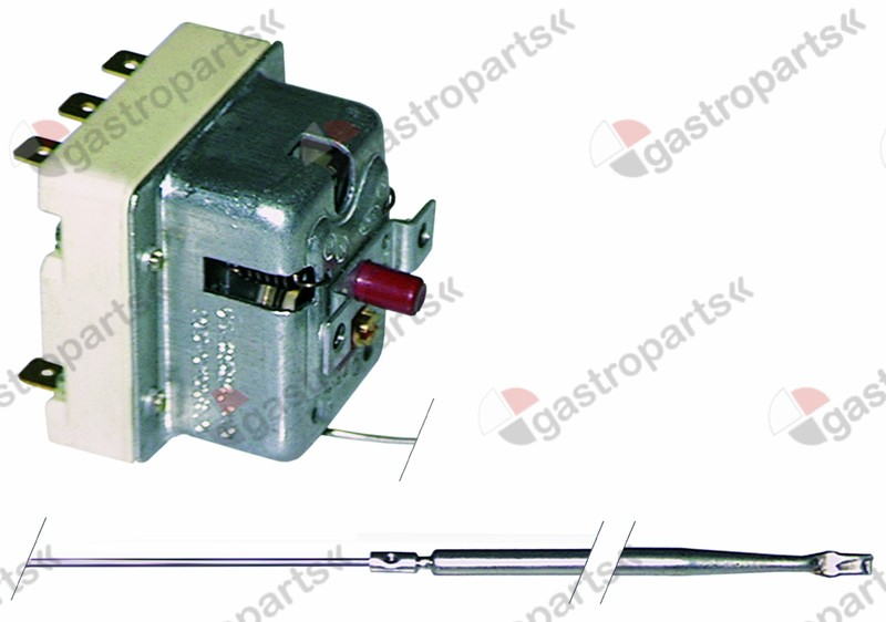 375.065, safety thermostat switch-off temp. 500°C 3-pole 20A probe ø 4mm probe L 308mm capillary pipe 890mm