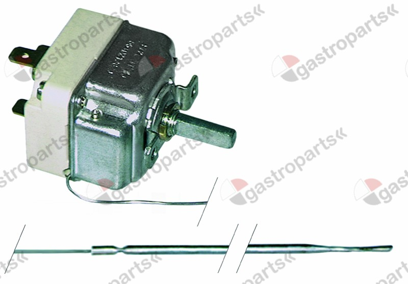 375.071, Replaced by 375462 / thermostat t.max. 250°C temperature range 50-250°C1-pole 1NO 16A probe ø 3,1mm probe L 226mm