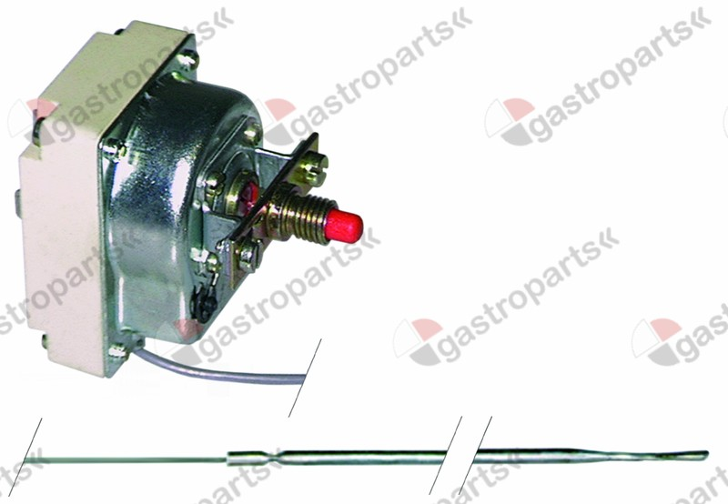 375.078, safety thermostat switch-off temp. 313°C 1-pole 0,5A probe ø 3,1mm probe L 160mm