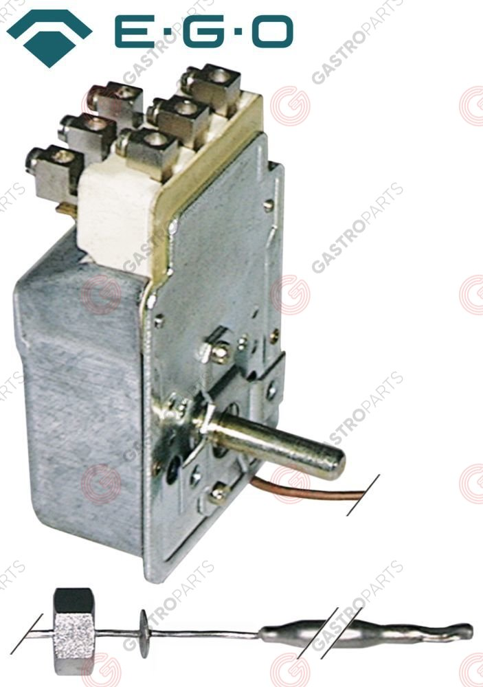 375.089, Replaced by 375049 / thermostat t.max. 190°C temperature range 90-190°C3-pole