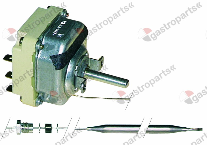 375.092, Replaced by 375411 / thermostat t.max. 90°C temperature range 30-90°C3-pole