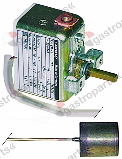 375.105, thermostat t.max. 440°C temp. d'utilisation 20-500°C 1-pôles 1CO 10A