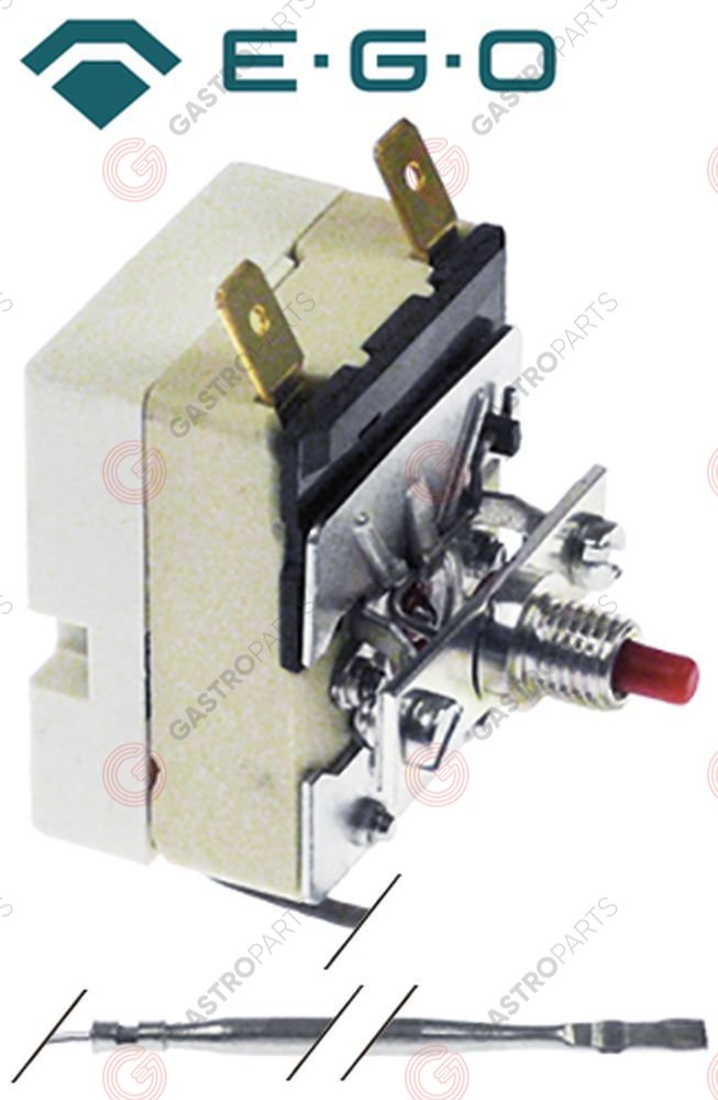 375.131, Replaced by 390854 / safety thermostat switch-off temp. 245°C 1-pole16A probe ø 3,1mm probe L 201mm