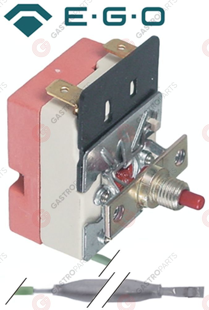 375.149, safety thermostat switch-off temp. 110°C 1-pole 16A probe ø 6mm probe L 98mm capillary pipe 2930mm