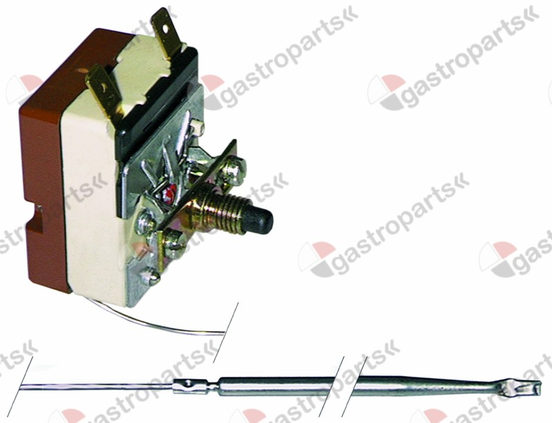375.152, safety thermostat switch-off temp. 145°C 1-pole 16A probe ø 4mm probe L 100mm