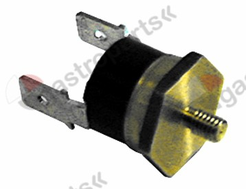 375.160, bi-metal thermostat switch-off temp. 110°C 1NC 1-pole 16A connection F6.3 M4