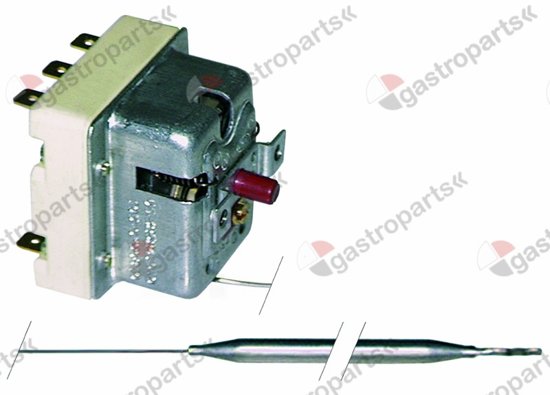 375.163, safety thermostat switch-off temp. 350°C 3-pole 0,5A probe ø 6mm probe L 79mm