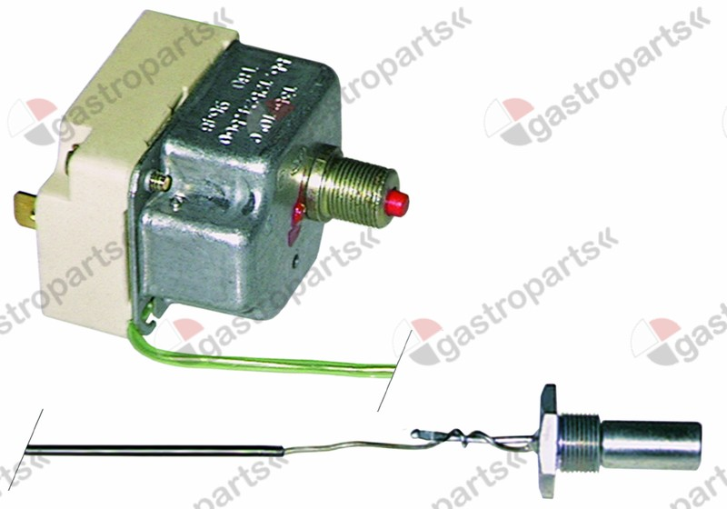 375.165, No longer available / safety thermostat switch-off temp. 135°C 1-pole0,5A probe ø 11mm probe L 27,5mm