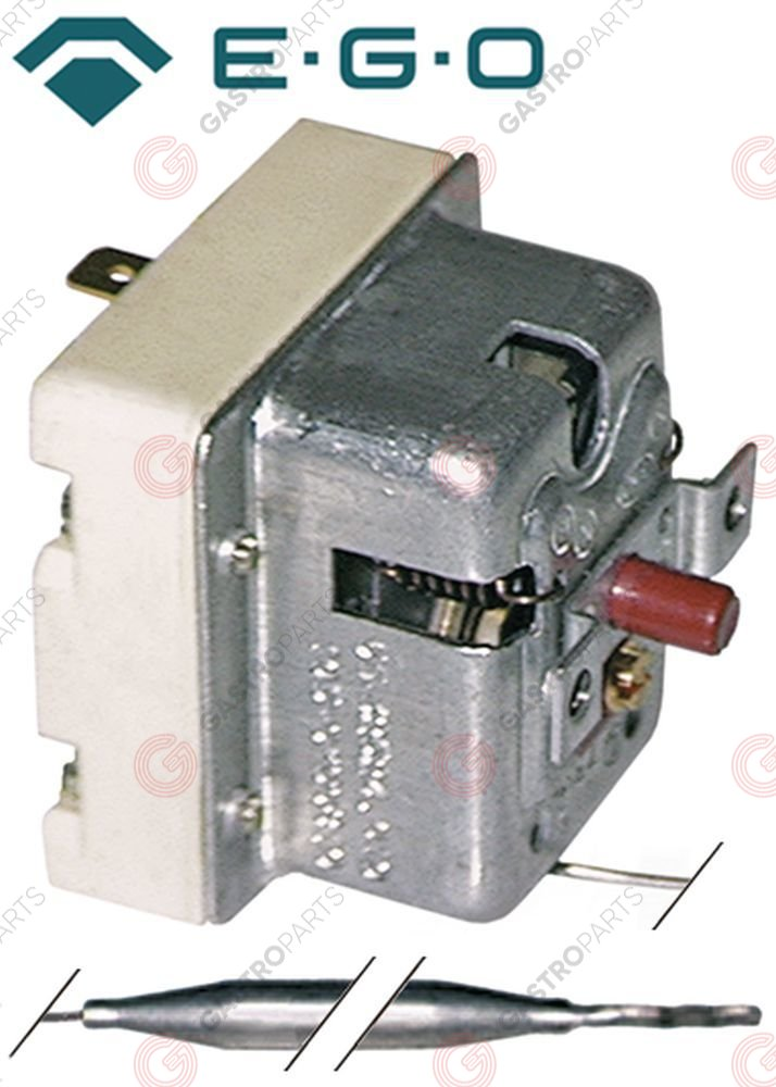 375.170, safety thermostat switch-off temp. 150°C 1-pole 20A probe ø 6mm probe L 74mm capillary pipe 1700mm