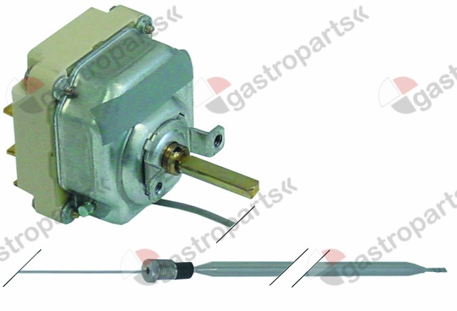 375.174, thermostat t.max. 93°C temperature range 30-93°C 3-pole 3CO 16A probe ø 6mm probe L 235mm
