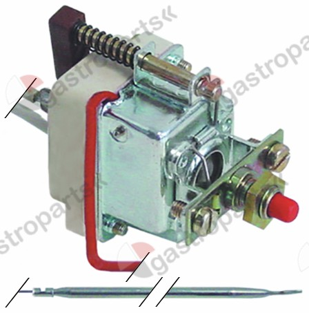 375.178, safety thermostat switch-off temp. 230°C 1-pole 0,5A probe ø 4mm probe L 116mm