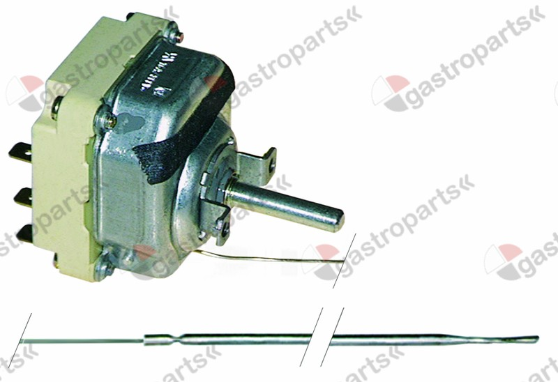 375.183, thermostat t.max. 298°C temperature range 50-298°C 3-pole 3NO 16A probe ø 3mm probe L 219mm