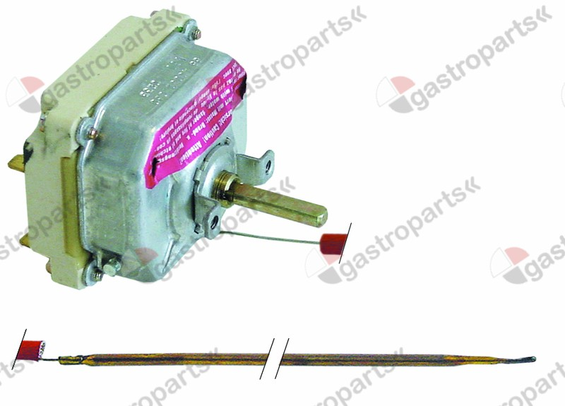 375.185, thermostat t.max. 320°C temperature range 53-320°C 4-pole 4NO 16A probe ø 3,9mm probe L 228mm
