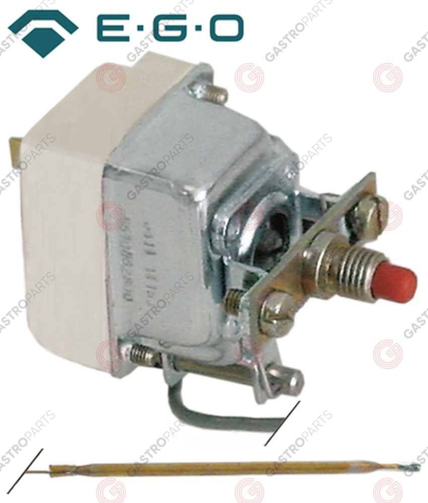 375.191, Replaced by 375662 / safety thermostat switch-off temp. 500°C 1-pole16A probe ø 3,9mm probe L 230mm