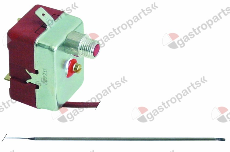 375.196, safety thermostat switch-off temp. 240°C 1-pole 16A probe ø 3mm probe L 190mm