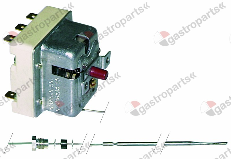 375.206, safety thermostat switch-off temp. 325°C 3-pole 20A probe ø 3,1mm probe L 188mm