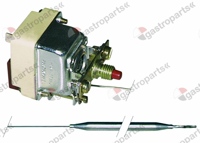 375.233, safety thermostat switch-off temp. 235°C 1-pole 16A probe ø 6mm probe L 133mm capillary pipe 870mm