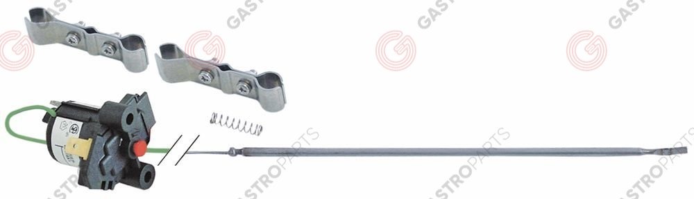 375.249, Replaced by 375442 / safety thermostat switch-off temp. 305°Cprobe ø 3mm probe L 140mm capillary pipe 2270mm