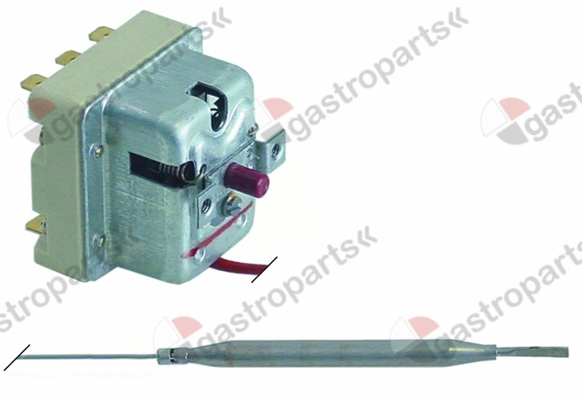 375.252, safety thermostat switch-off temp. 350°C 3-pole 20A probe ø 6mm probe L 89mm capillary pipe 3000mm