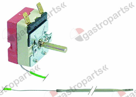 375.304, thermostat t.max. 93°C temperature range 28-93°C 1-pole 1NO 16A probe ø 3,1mm probe L 244mm