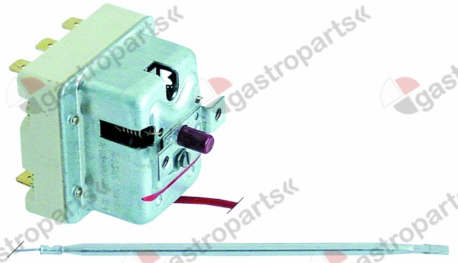 375.312, safety thermostat switch-off temp. 245°C 3-pole 20A probe ø 4mm probe L 120mm