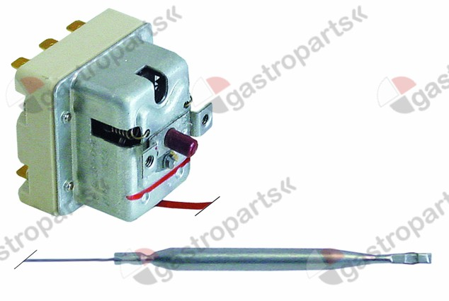 375.315, safety thermostat switch-off temp. 240°C 3-pole 20A probe ø 6mm probe L 79mm capillary pipe 900mm