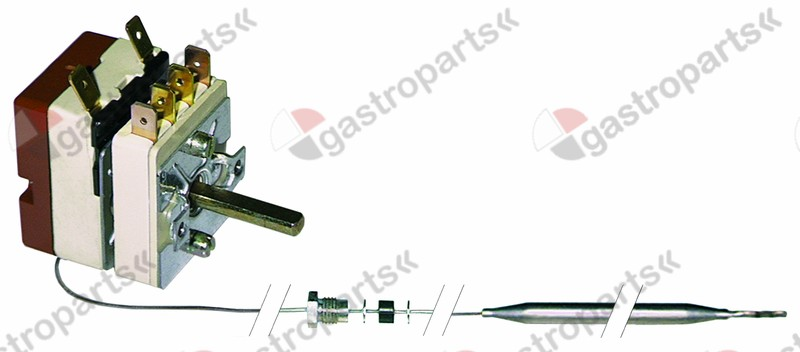375.407, thermostat t.max. 185°C temperature range 97-185°C 1-pole 1CO 16A probe ø 6mm probe L 87mm