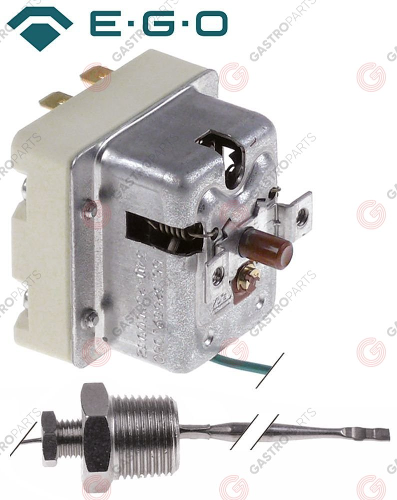 375.474, safety thermostat t.max. 340°C switch-off temp. 340°C 2-pole 1NC/1CO 1x20/1x0.5A