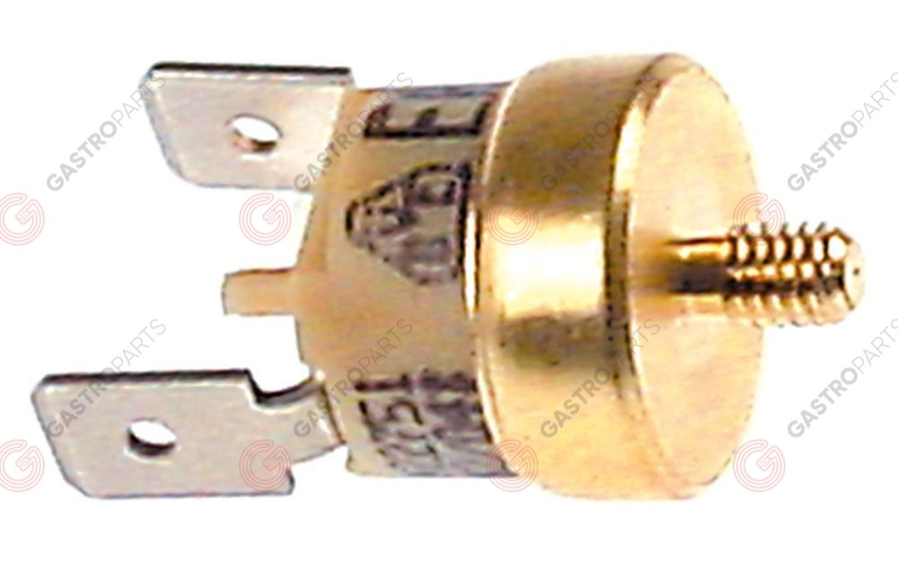 375.732, bi-metal safety thermostat switch-off temp. 150°C 1NC 1-pole 16A connection F6.3 M4