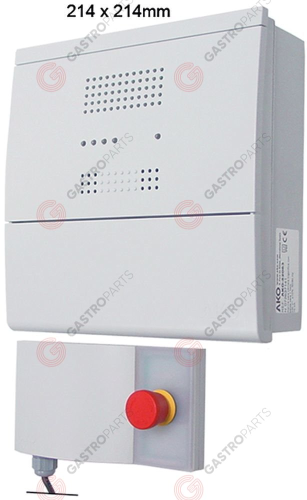 378.051, Alarmgever AKO type AKO-52063 230V spanning AC relaisuitgang 1 CO-8A(4) 0 tot 1