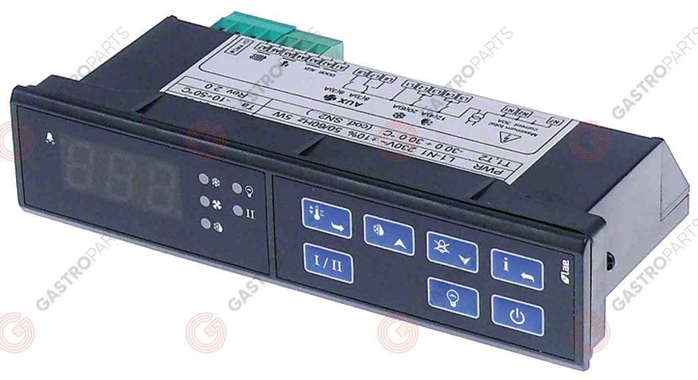 378.184, electronic controller LAE type LCD32Q4E-C mounting measurements 149x30mm 230V voltage AC NTC