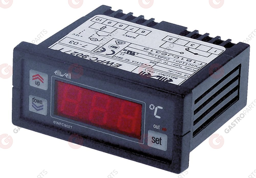 378.214, Replaced by 379605 / electronic controller ELIWELL type EWPC902Tmounting measurements 71x29mm 12V voltage AC/DC