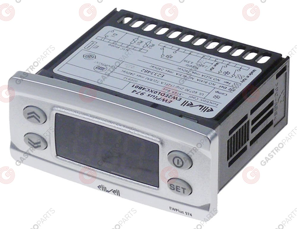 378.285, electronic controller ELIWELL type EWPlus 974 mounting measurements 71x29mm 230V voltage AC NTC