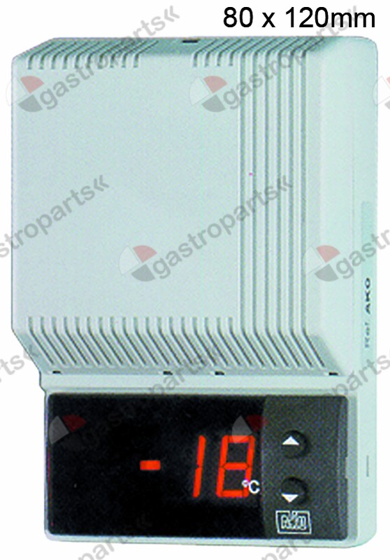 379.126, thermometer AKO type AKO-14605 mounting measurements 80x120x37mm 230V voltage AC