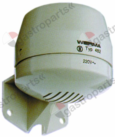379.332, alarm device 230V AC o 70mm H 80mm screw mounting