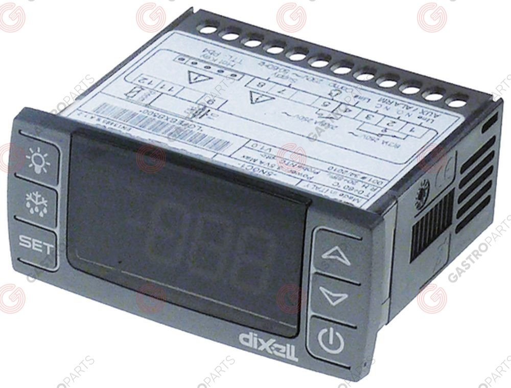 379.664, electronic controller DIXELL XR30CX-5N0C0 mounting measurements 71x29mm 230V voltage AC