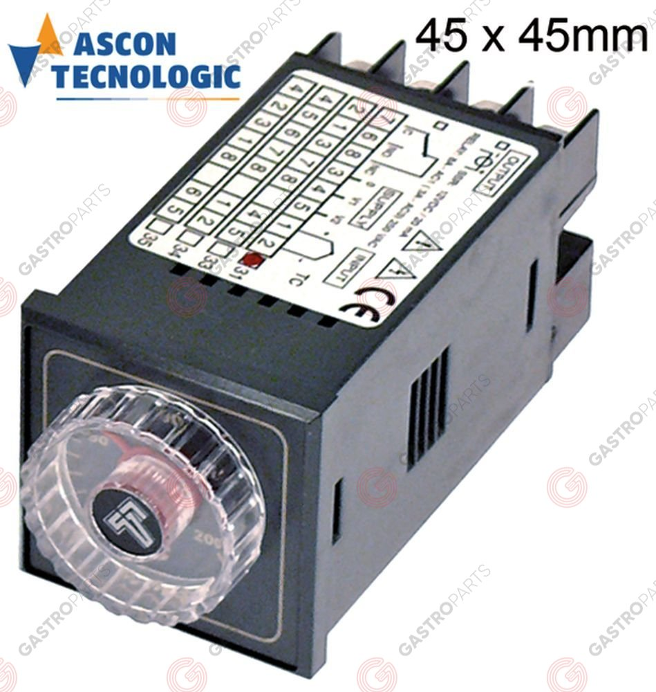 379.962, electronic controller TECNOLOGIC type TCPDE M2UJR31FO mounting measurements 45x45mm