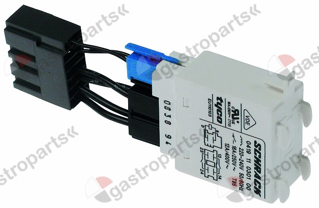 380.053, power relays 230VAC 16A with adapter 2-pole