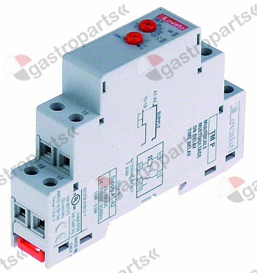380.075, time relay LOVATO TM P 24-240VAC 2,5A 1CO