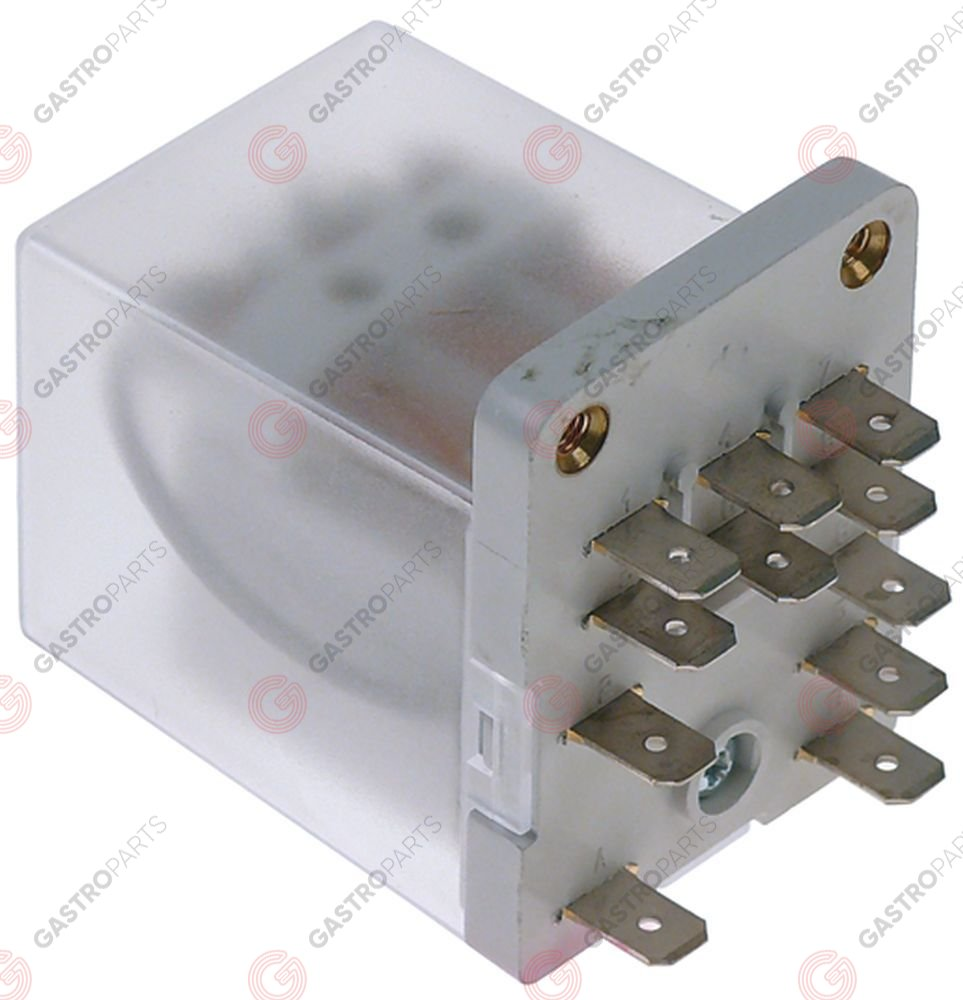 380.131, power relays Italiana Relè 230VAC 16A 3CO connection male faston 6.3mm screw mounting