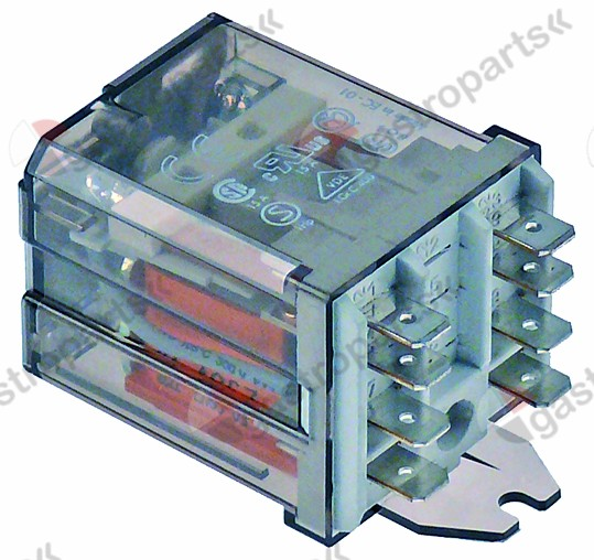 380.139, power relays FINDER 230VAC 16A 2CO connection F6.3 bracket mounting dimensions 68x38.2x35.8mm
