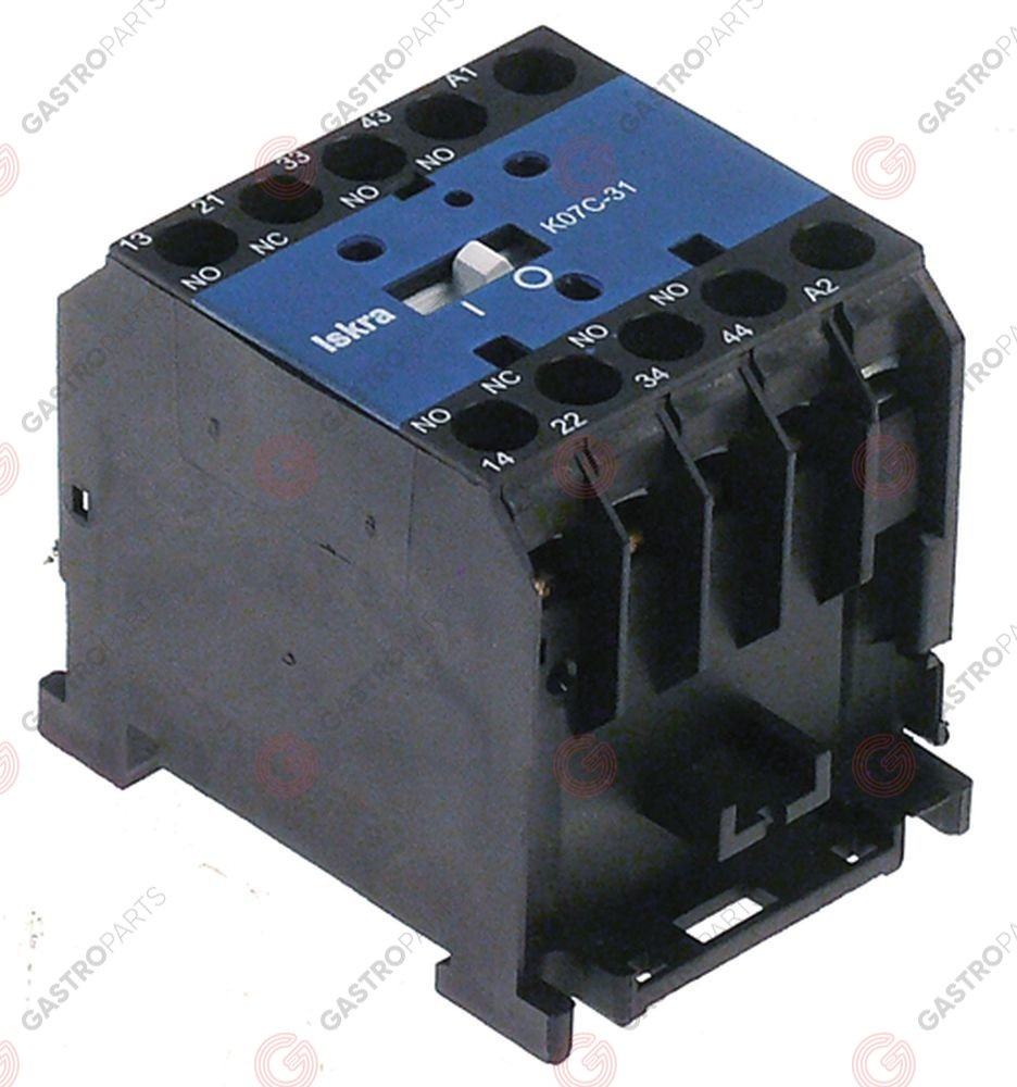 380.207, auxiliary contactor AC1 20A 230VAC AC15 4A contacts 2NO/2NC connection screw connection