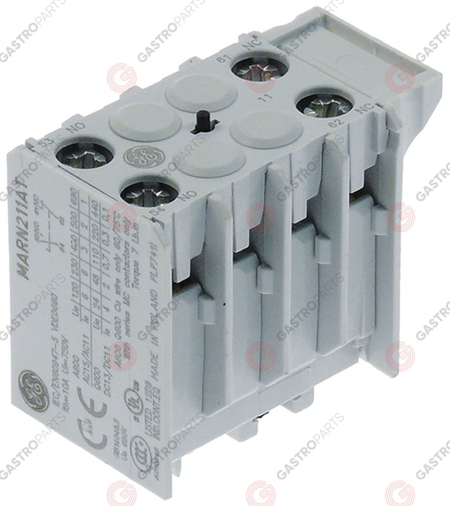 380.242, auxiliary contact contacts 1NO/1NC for contactors M+LS05 connection screw AC-12 10A
